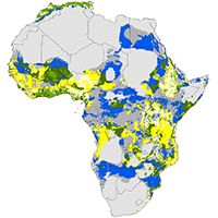 31. Vulnerability of climate change and human population density increases (Fig 2, 2015, Blach Overgaard et al, SciRep)