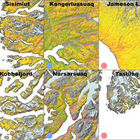 50. Classification maps of key sites around Greenland (detail from Fig. 6)